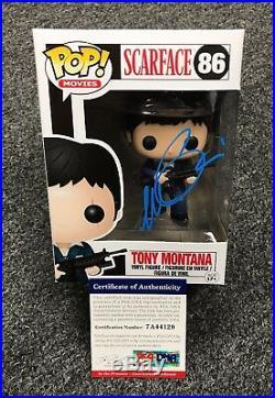 1210C4 Al Pacino Signed SCARFACE Tony Montana FUNKO POP Doll PSA/DNA COA