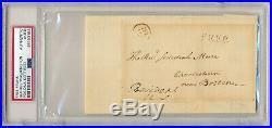1790 GEORGE WASHINGTON FREE FRANK AUTOGRAPH signature signed president PSA DNA
