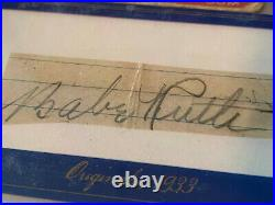 1933 Goudey Babe Ruth #181,'13 Historical Originals Signed AUTO, PSA/DNA CUT