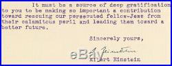 1939 ALBERT EINSTEIN Signed Letter WWII Jewish Resistance TLS Autograph PSA/DNA