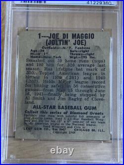 + 1948 Leaf Joe DiMaggio #1 PSA DNA Cert Autograph Authentic RARE BEAUTY