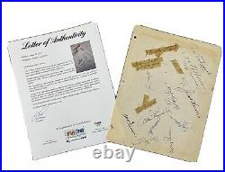 1951 New York Yankees Team Signed Sheet MICKEY MANTLE RookIe autograph PSA/DNA
