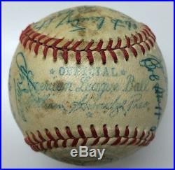 1952 ST. LOUIS BROWNS Team Signed Autographed Baseball PSA/DNA SATCHEL PAIGE HOF