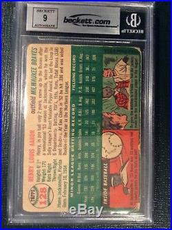 1954 Topps Hank Aaron Rookie RC Autograph card PSA DNA BAS