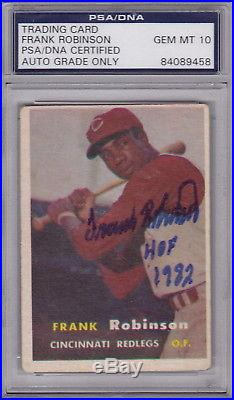 1957 Topps #35 Frank Robinson Reds RC Rookie HOF Signed AUTO PSA/DNA PSA 10