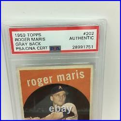 1959 Topps Roger Maris Signed Autographed Baseball Card PSA DNA COA