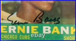 1960 Topps #10 Ernie Banks cubs Psa Dna AUTO Nice Mint Signed Original Card hof