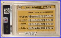 1963 Topps PETE ROSE Signed Autograph Rookie Baseball Card PSA/DNA 10 PSA 3 Reds