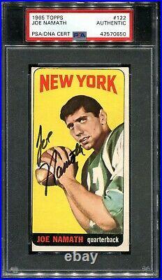 1965 Topps #122 Joe NAMATH PSA/DNA Signed Rookie Card Auto Autograph HOF