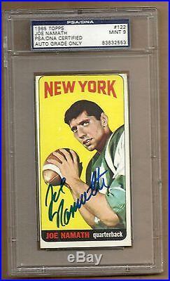 1965 Topps Joe Namath # 122 Autograph Psa / Dna 9