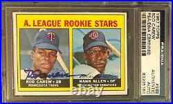 1967 Topps Rod Carew Signed Rc Rookie Card #569 Psa/dna Authentic Auto