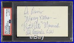 1968-1970 Pete Maravich LSU Autographed Index Card Slabbed (PSA/DNA Authentic)