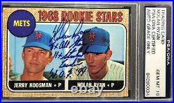 1968 Topps #177 NOLAN RYAN Rookie PSA/DNA GEM MINT 10 AUTO- 1/1 Autograph