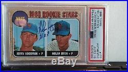 1968 Topps Nolan Ryan Autographed RC PSA/DNA 10