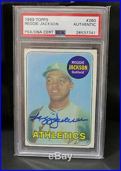 1969 Topps #260 Reggie Jackson Auto Rookie! Psa / Dna Signed Autograph Rc