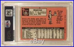 1969 Topps NOLAN RYAN Signed Autographed Baseball Card PSA/DNA #533