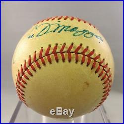 1970's Joe DiMaggio Signed Autographed AL MacPhail Baseball PSA DNA COA #AA05145
