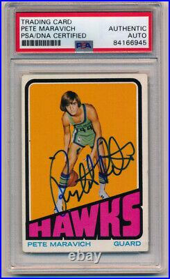 1972 Topps Pete Maravich #5 Signed Autographed Basketball Card PSA DNA Pop 3