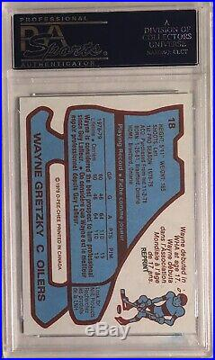 1979 O-Pee-Chee RP RC Rookie WAYNE GRETZKY Autograph PSA/DNA GEM 10 AUTO Topps