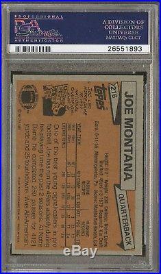 1981 Topps #216 Joe Montana 49ers RC Rookie HOF Signed AUTO PSA/DNA 10 PSA 9