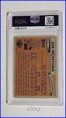 1981 Topps JOE MONTANA #216 PSA EX 5 AUTO AUTH PSA/DNA Rookie RC Autograph