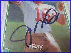1981 Topps JOE MONTANA Rookie #216 PSA /DNA Auto Autograph Rookie RC 49ers 49ers