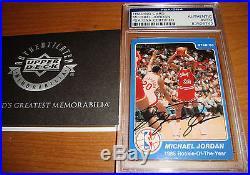 1984-85 Star Michael Jordan signed UDA PSA/DNA auto RC Upper Deck Not Fleer