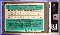 1984 Donruss Don Mattingly RC #248 PSA 9 Mint DNA Auto 10