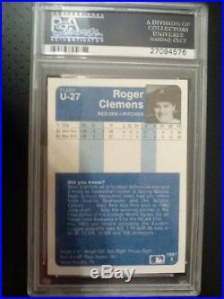 1984 Fleer Update Roger Clemens RC (NM-Mint)PSA/DNA AUTO #U-27 PSA- SUPER RARE