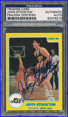 1985/86 Star #144 John Stockton PSA/DNA Certified Authentic Auto Autograph 6218