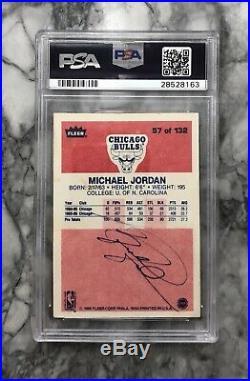 1986-87 Fleer Michael Jordan Auto Rc PSA DNA CERT signed coa rookie autograph