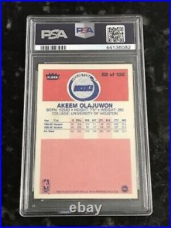 1986 Fleer HAKEEM OLAJUWON #82 Auto Autograph RC PSA/DNA Auto 10