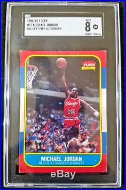 1986 Fleer Michael Jordan Autographed Rookie Auto Signed SGC PSA DNA BAS BGS UDA