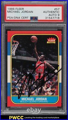 1986 Fleer Michael Jordan RC #57 Vintage Signed PSA/DNA Rookie AUTO 9 PSA AUTH