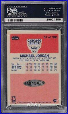 1986 Fleer Michael Jordan ROOKIE RC SIGNED PSA/DNA AUTO #57 PSA Auth UDA
