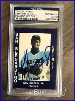 1988 San Bernardino Spirit #34 Ken Griffey Jr. RC HOF Signed AUTO PSA/DNA
