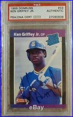 1989 Donruss Ken Griffey Jr PSA DNA Autographed Rookie Auto Autograph