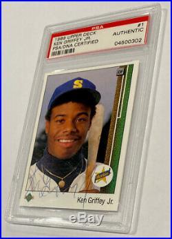 1989 Ken Griffey Jr Upper Deck #1 PSA/DNA Autographed Signed Rookie Card