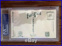 1989 Mickey Mantle Perez-Steele Postcard Signed Autographed PSA/DNA AUTO PSA 9