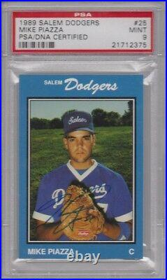 1989 Salem Dodgers MIKE PIAZZA #25 PSA/DNA 9 Mint Auto Autograph 1/1 None Higher
