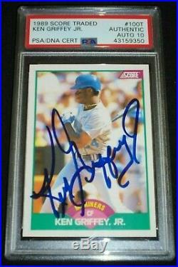1989 Score Ken Griffey Jr Signed Rookie Card Autograph RC PSA/DNA 10 Gem Auto