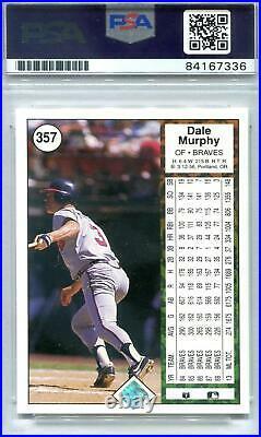 1989 Upper Deck Baseball Dale Murphy Autographed Card (reverse Negative) Psa/dna
