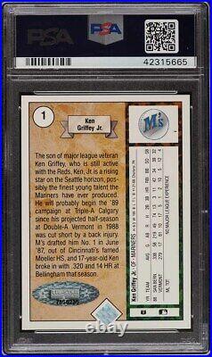 1989 Upper Deck Ken Griffey Jr. ROOKIE RC PSA/DNA 10 AUTO #1 PSA 10 GEM MINT