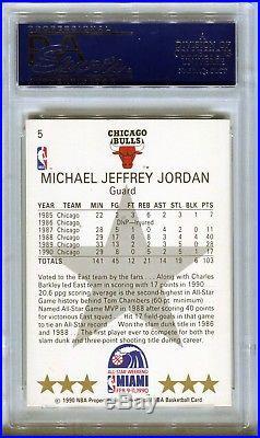 1990-91 NBA Hoops Miami All-Star Game MICHAEL JORDAN Auto Autograph Card PSA/DNA