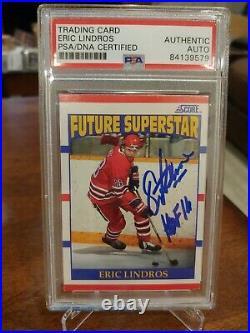 1990 Score Future Superstar Eric Lindros ROOKIE RC PSA/DNA AUTO #440 PSA Auth