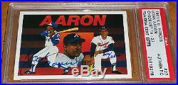 1991 UD Hank Aaron Heroes signed auto PSA/DNA Upper Deck #27 Autographed