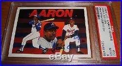 1991 UD Hank Aaron Heroes signed auto PSA/DNA Upper Deck #27 MINT 9 Autographed