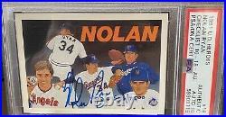 1991 Upper Deck Heroes Nolan Ryan #18 Psa 10 Auto 546/2500 HOF CENTERED BEAUTY