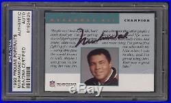 1992 Pro Line Portraits Muhammad Ali Auto Autograph PSA/DNA Authentic