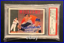 1992 Upper Deck Heroes Ted Williams #36 Auto 2169/2500 PSA/DNA 8 NM-MT Red Sox